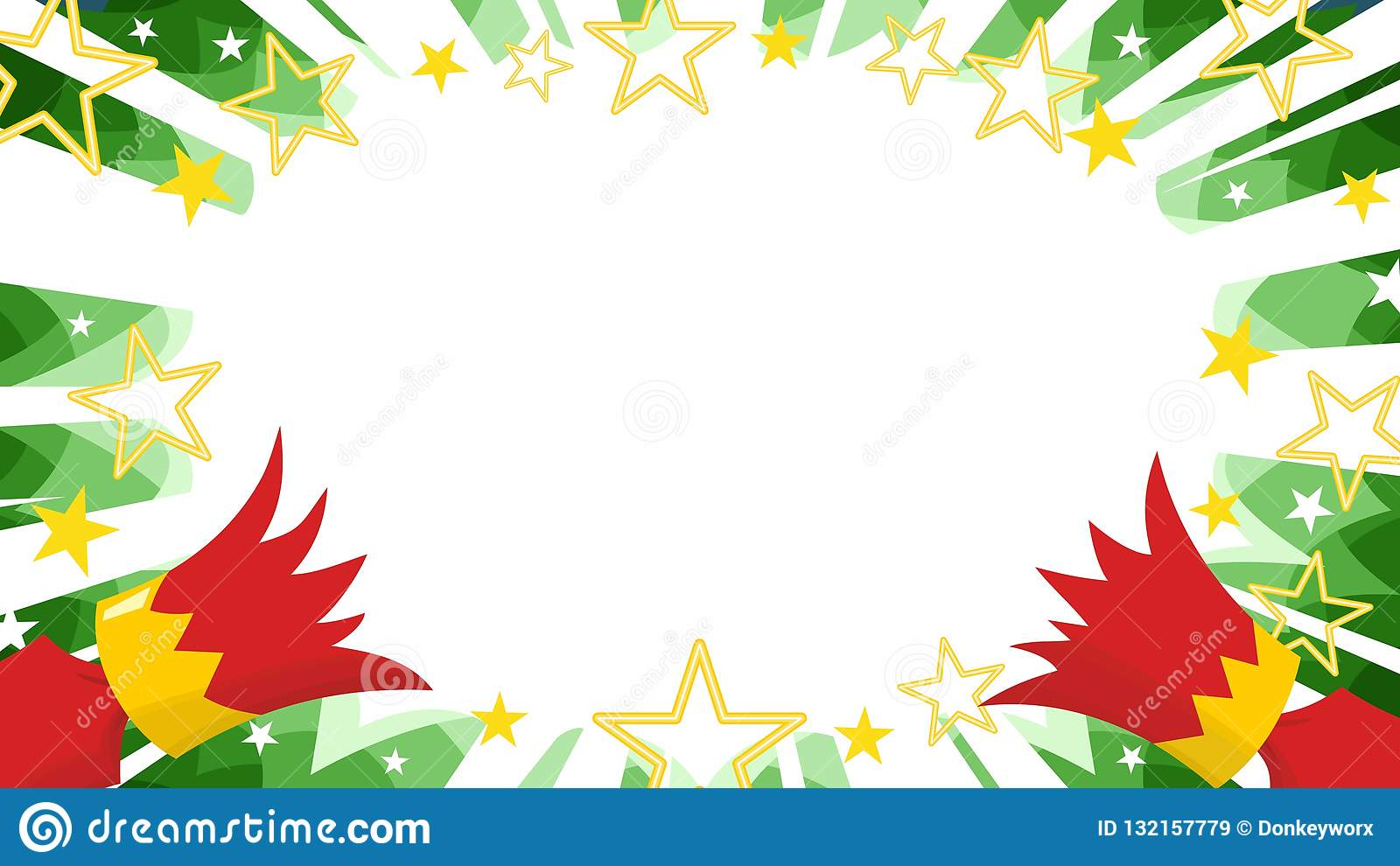 Christmas Cracker Vector.Christmas Cracker Pulled Apart On Manga Green Starburst