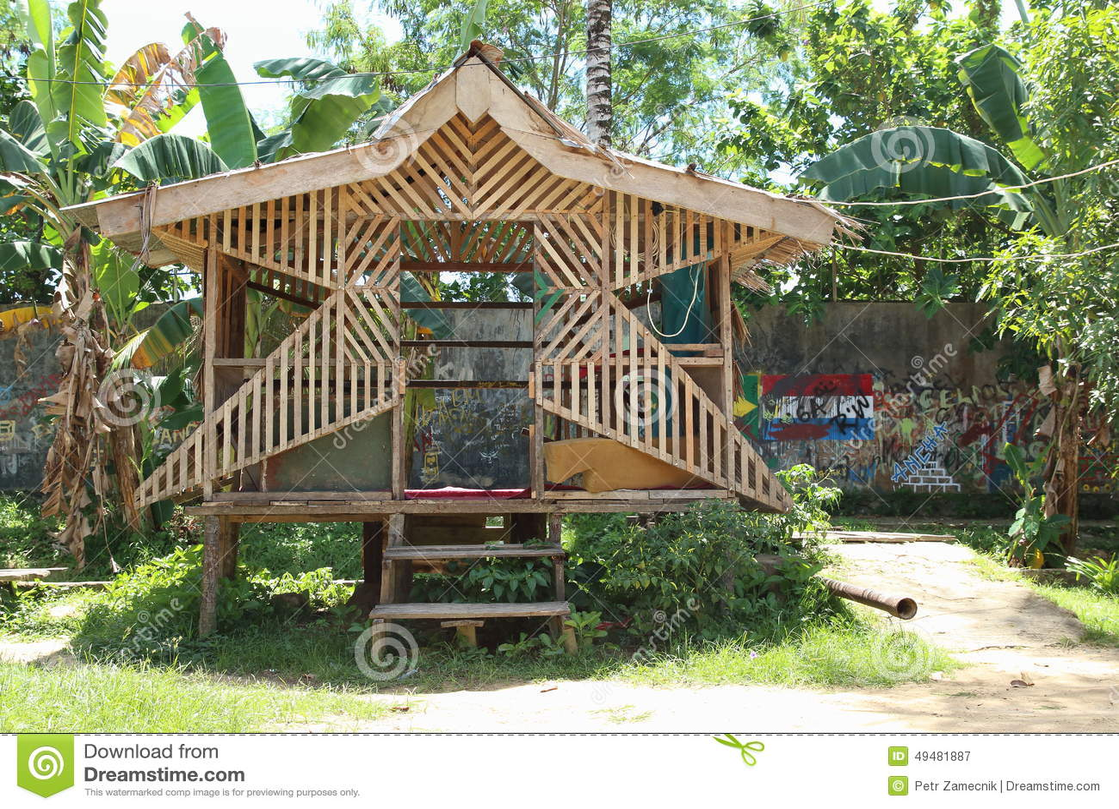 Christmas Crib In Sorong Papua Barat Indonesia Royalty Free Stock Photography