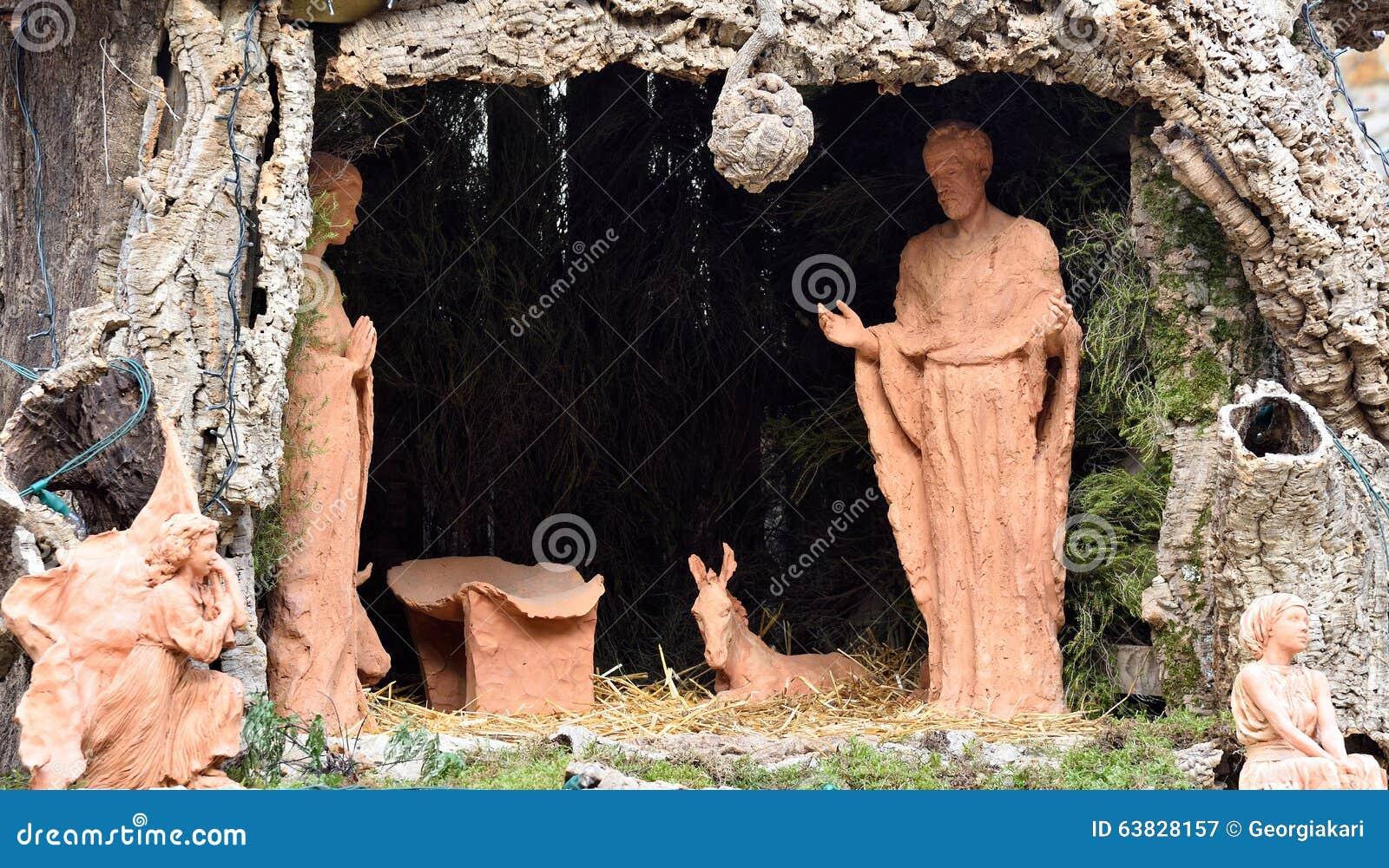 Christmas crib stock image. Image of representation ...