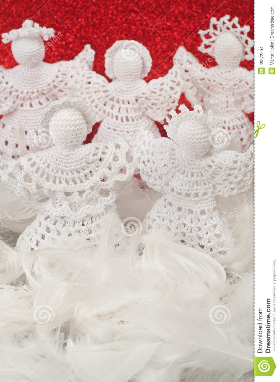 Christmas Crochet Angels Stock Images - Image: 36372394