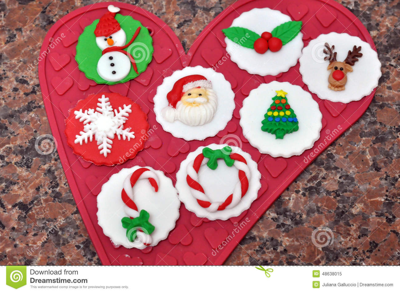 download christmas cupcake decorations stock image image of decoration white 48638015 - Christmas Cupcake Decorations
