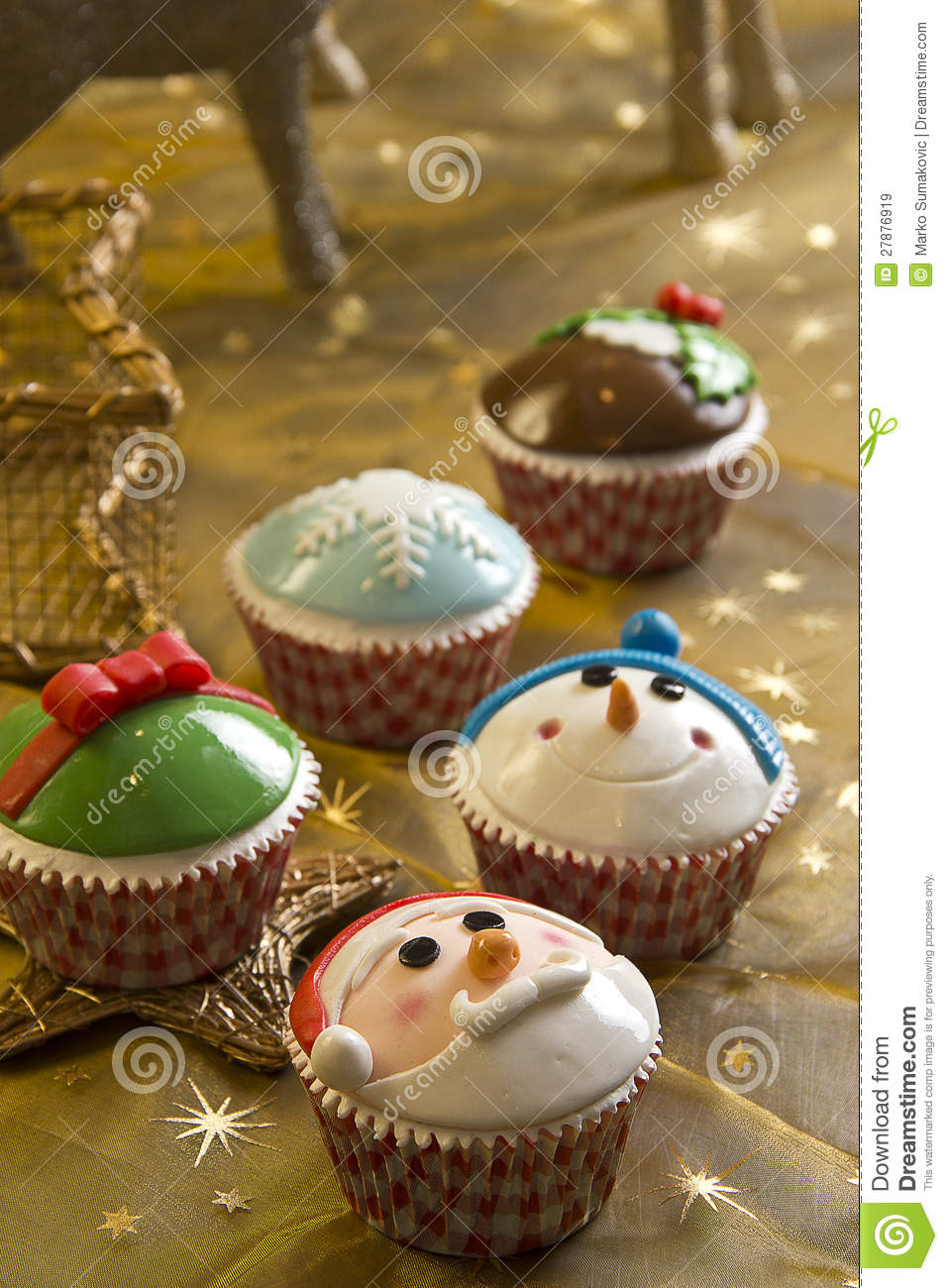 Download Christmas cupcakes stock image. Image of cupcakes, clause - 27876919