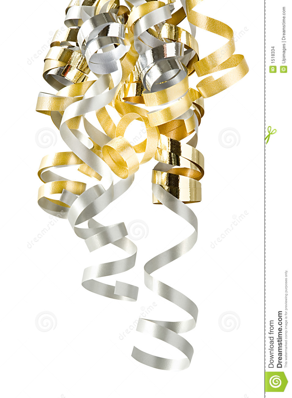 Christmas Curly Ribbons Stock Images