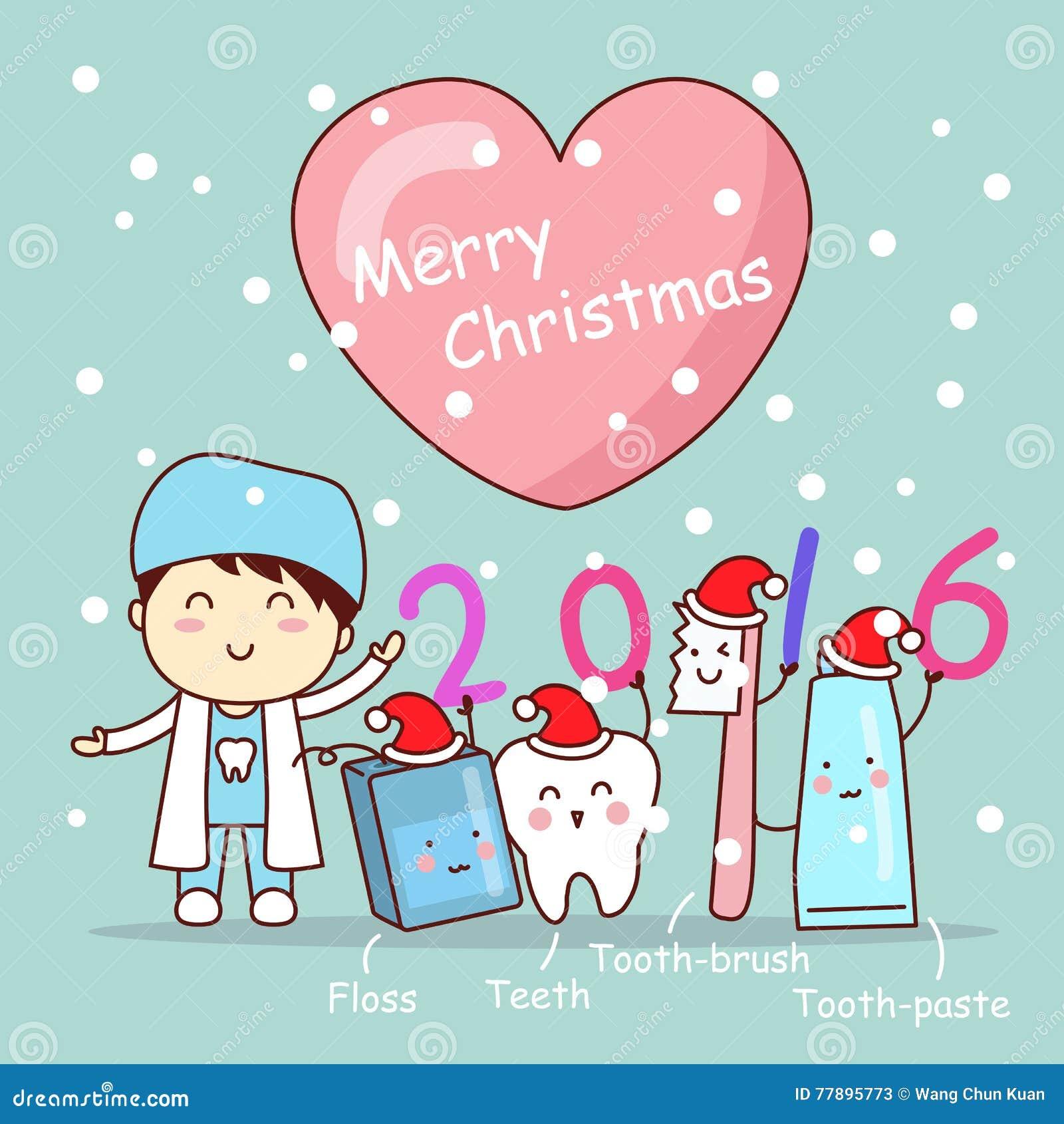 Christmas And Cute Cartoon Dentist Stock Vector - Image: 77895773