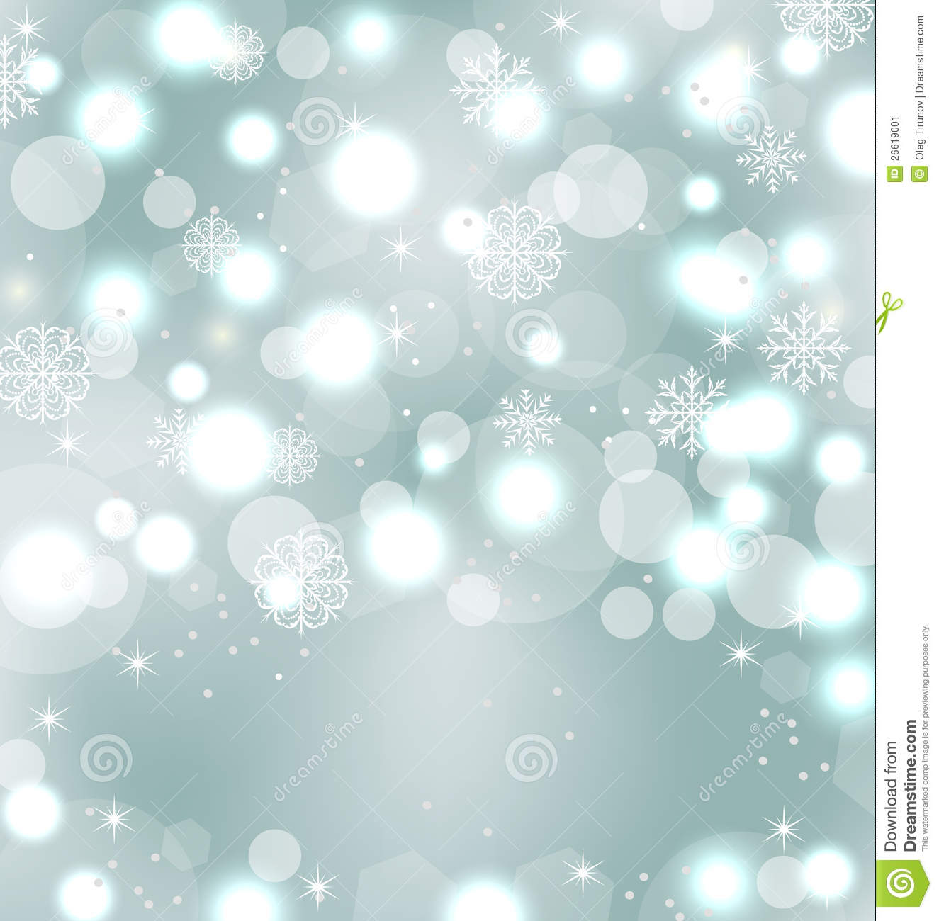 ... Christmas cute wallpaper with sparkle, snowflakes, stars - vector