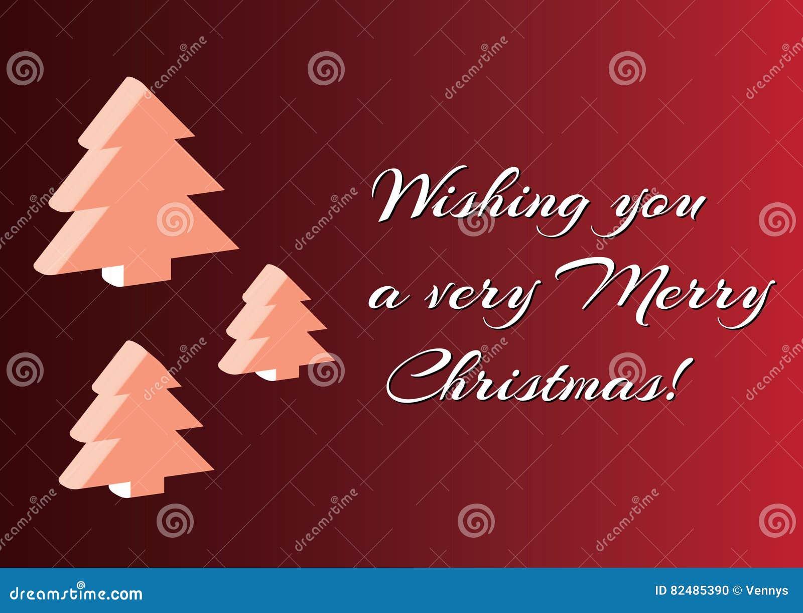 Christmas 3d Tree Set Background Minimalistic Simple Merry