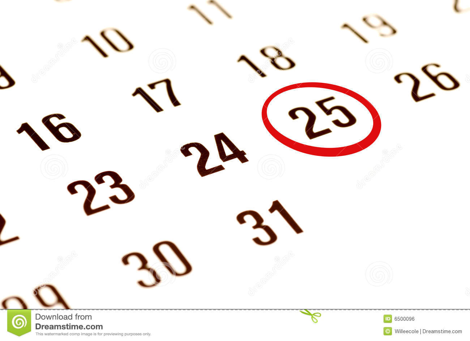 christmas day on calendar royalty free stock image image