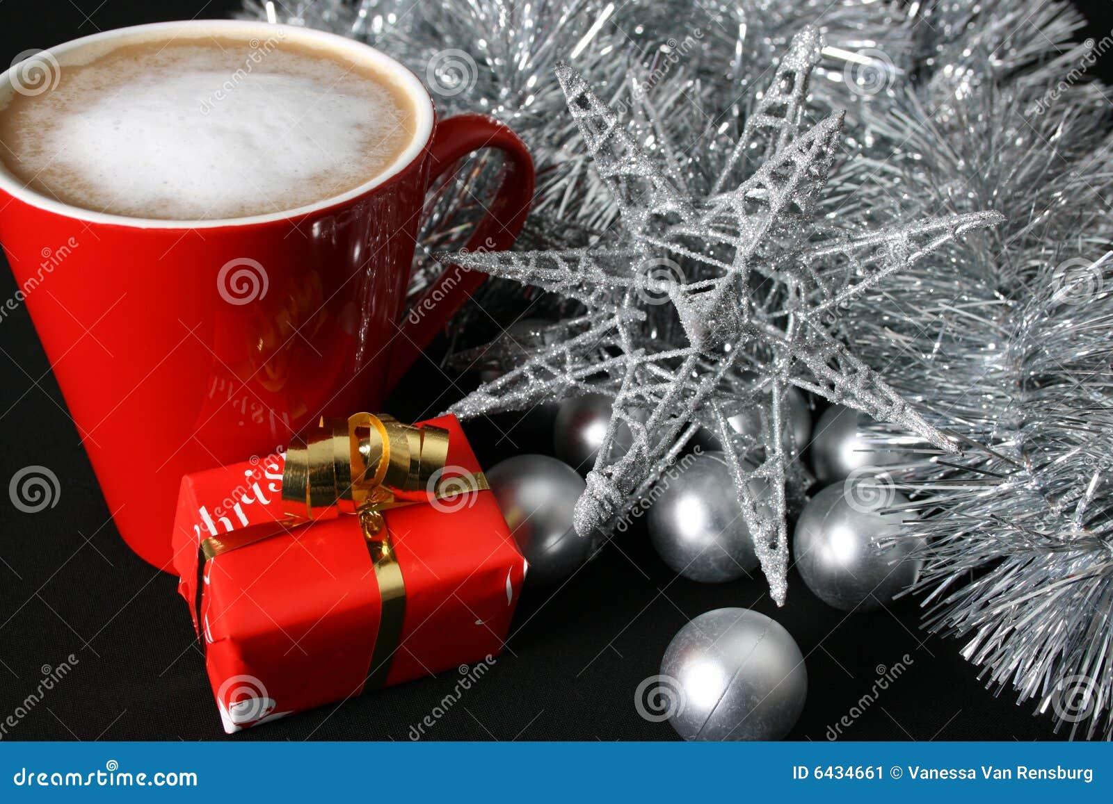 Christmas Day Coffee stock image. Image of seasonal, gift
