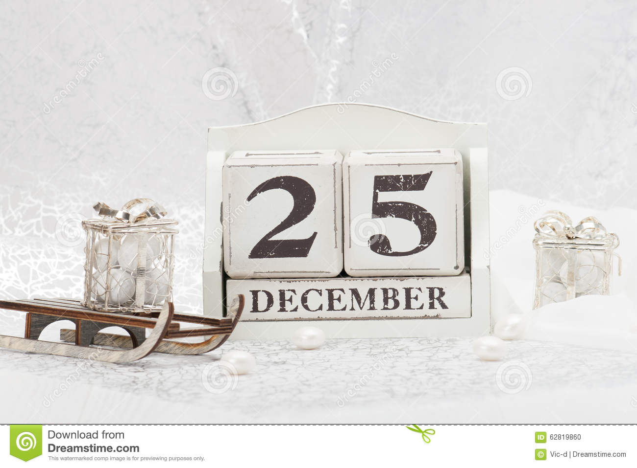 Christmas Day Date On Calendar. December 25 Stock Photo - Image ...