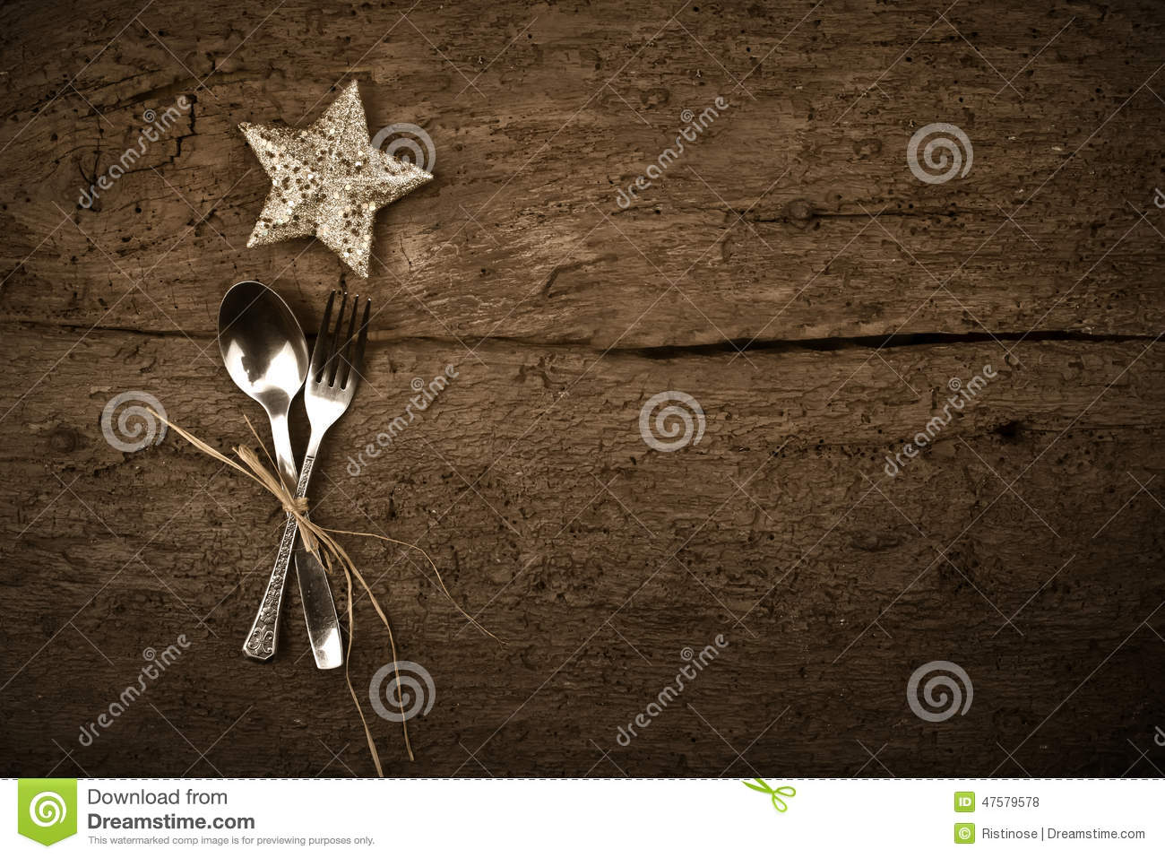 christmas day dinner rustic background stock photo