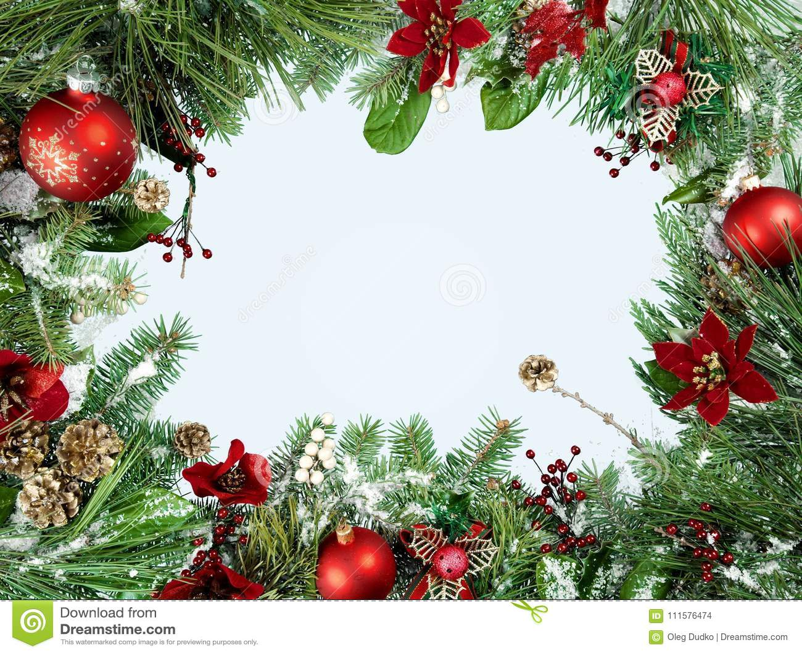 Beautiful Christmas Decorations On Background Stock Photo Image Of