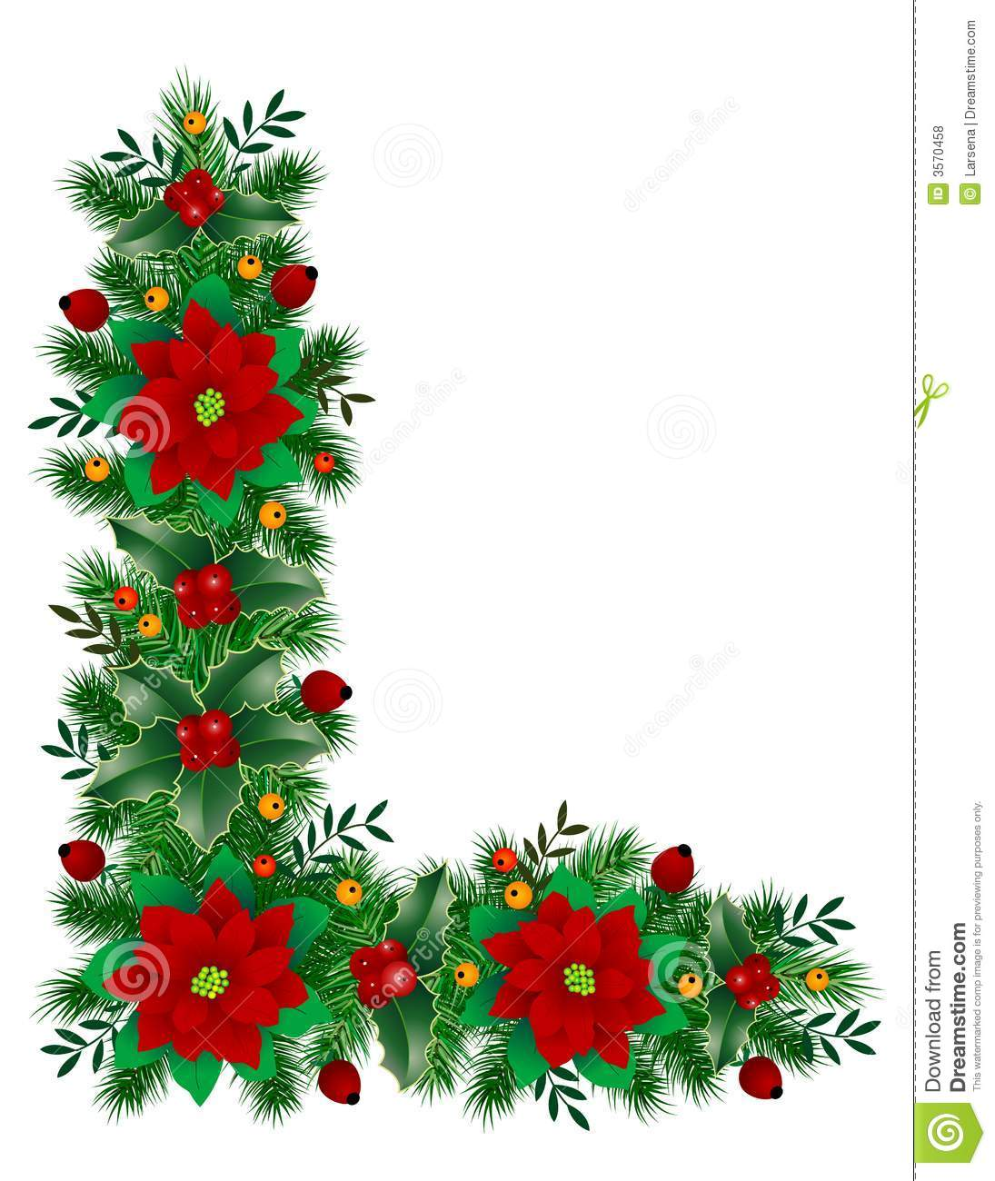 Christmas decoration stock vector image of leaf holly for Christmas decorations images