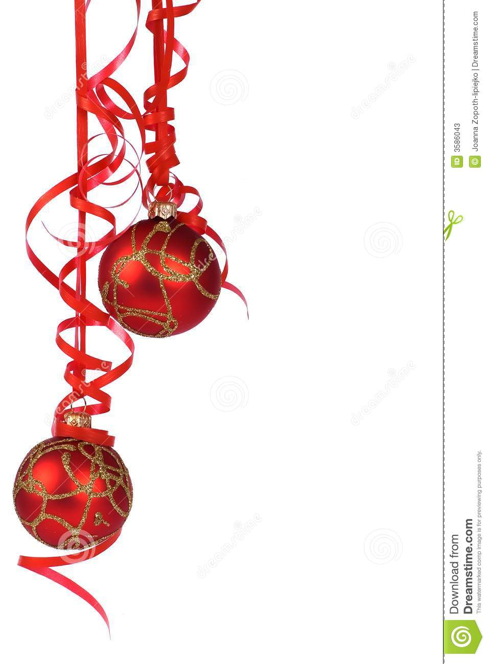 Christmas decoration stock image image of ball merry for Hanging christmas decorations