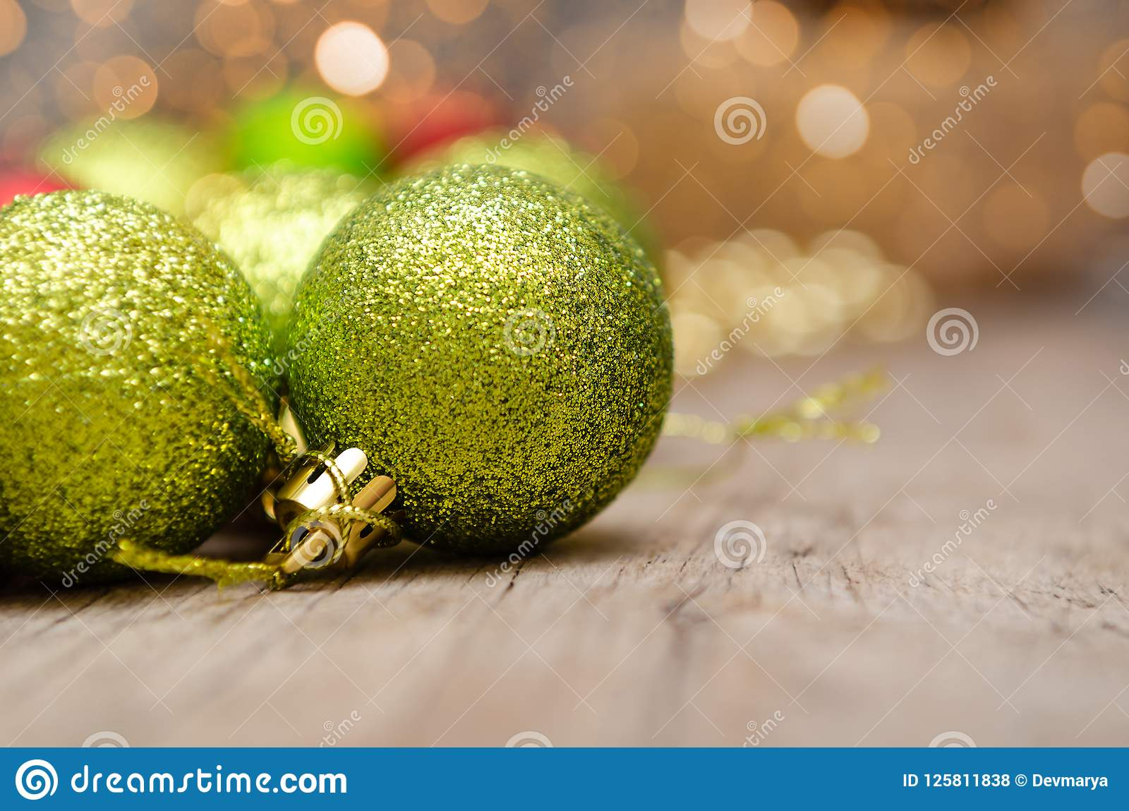 download christmas decoration on abstract background gold red and green colors stock photo - Why Are Christmas Colors Red And Green