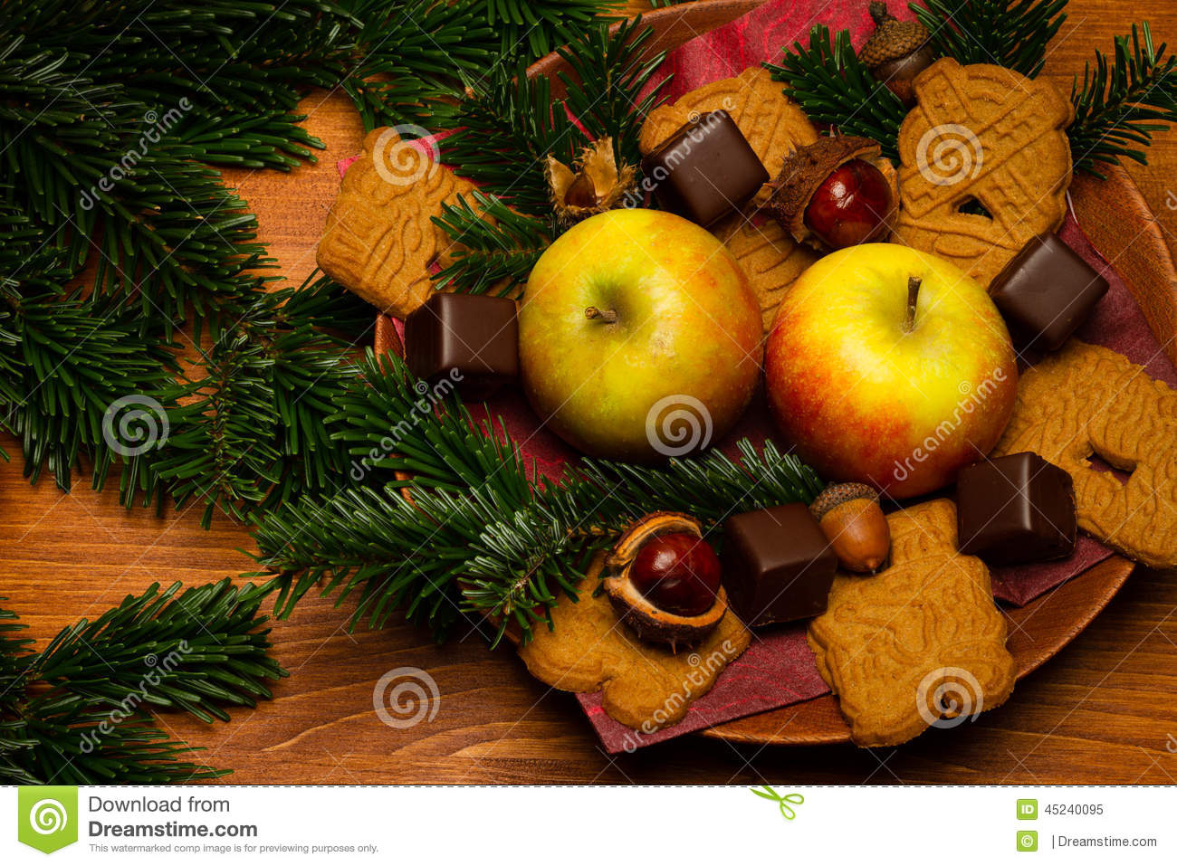Christmas decoration stock photo image 45240095 for Apples decoration