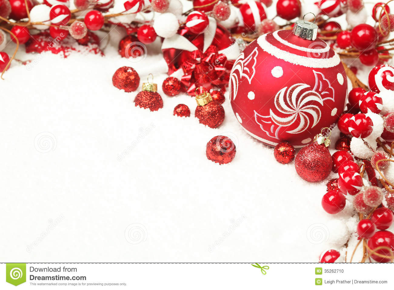 Christmas Decoration Background Stock Photo - Image of festive ...
