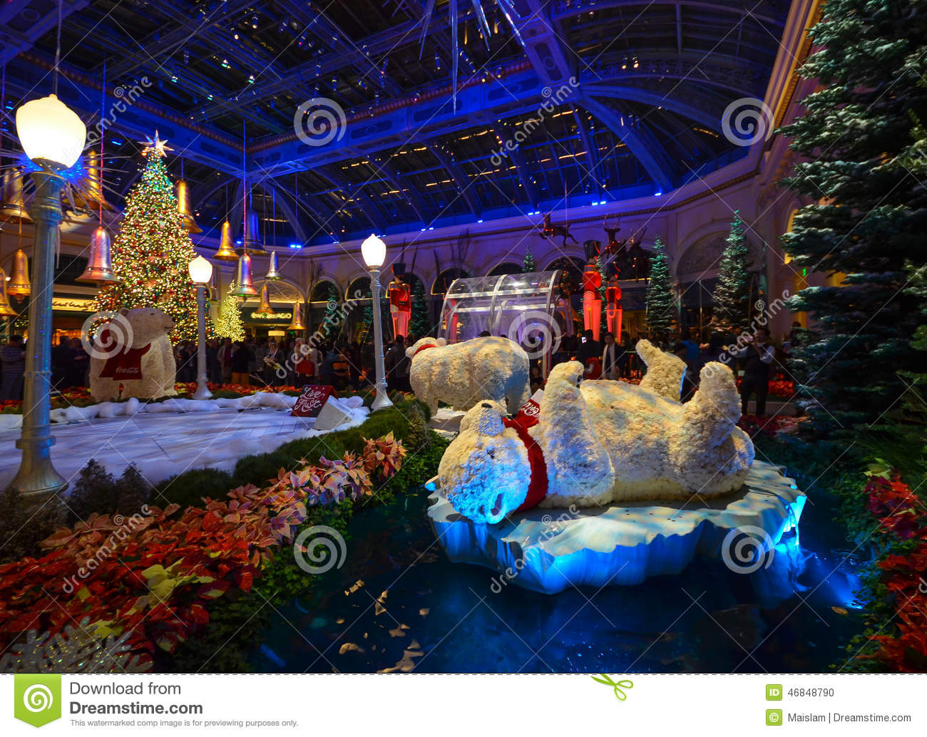 Christmas Decoration At Bellagio Hotel Conservatory And Botanical