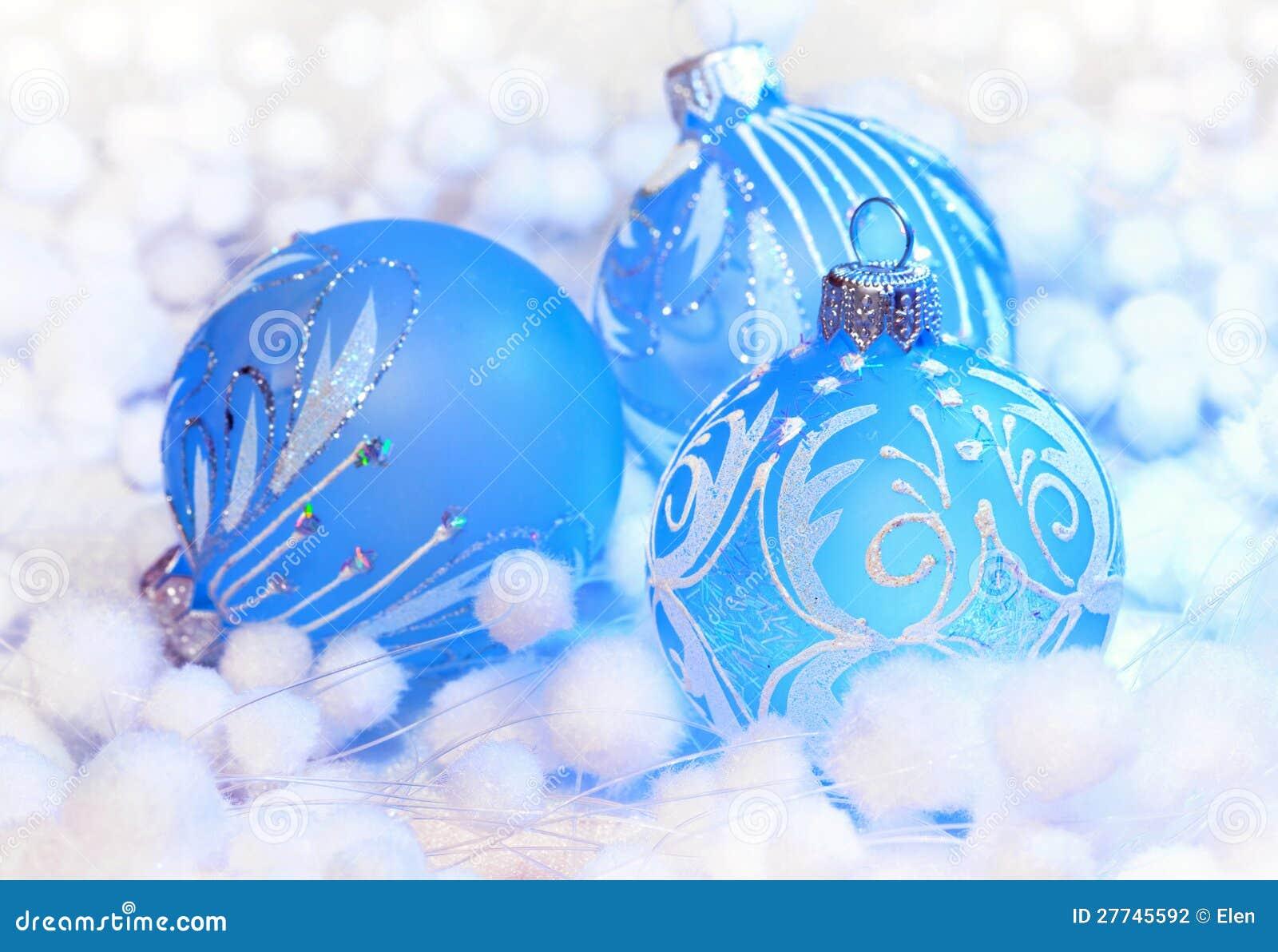 Christmas Decoration Blue Ball Stock Photo   Image of ball