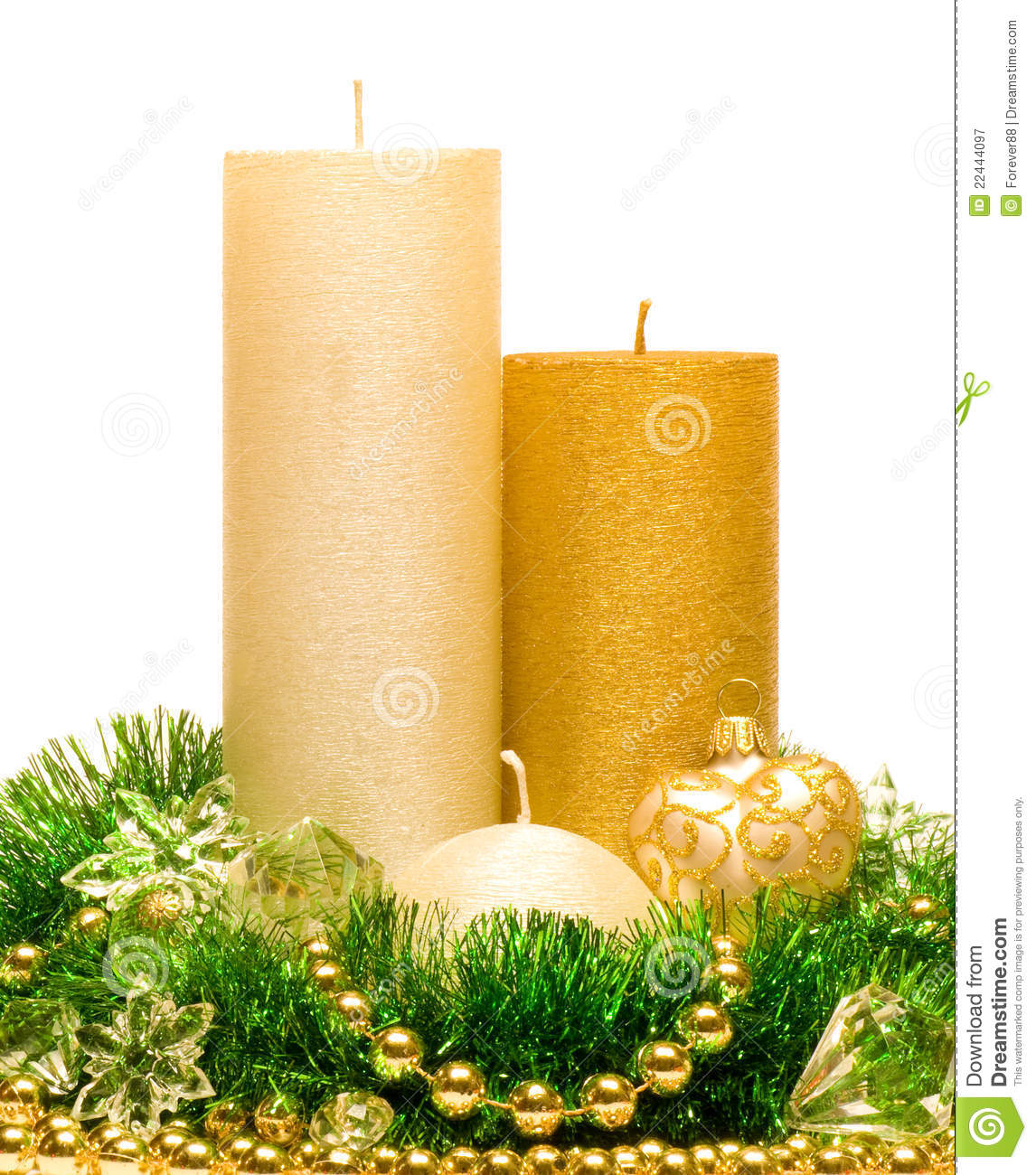 Christmas decoration candle royalty free stock photography image 22444097 for 7 candle christmas decoration
