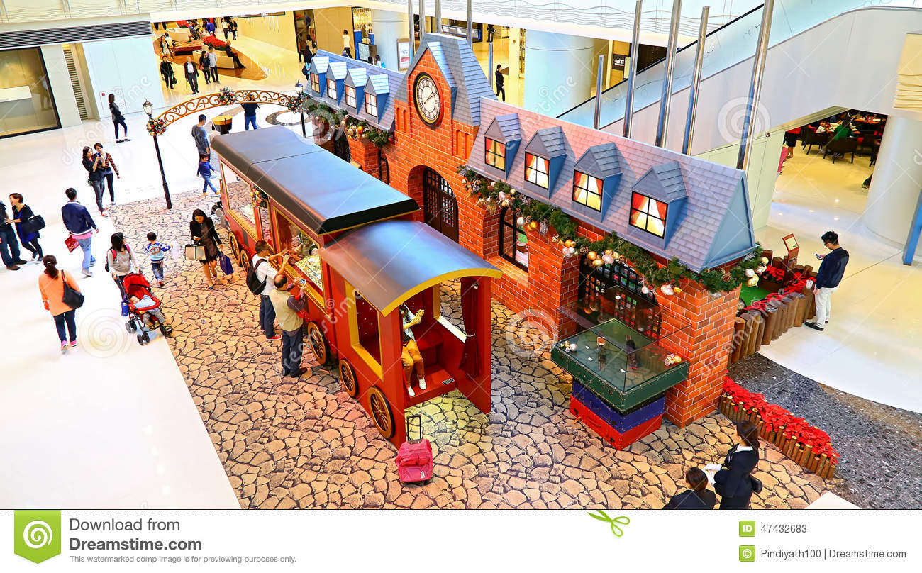 christmas decoration at elements mall hong kong - Christmas Train Decoration