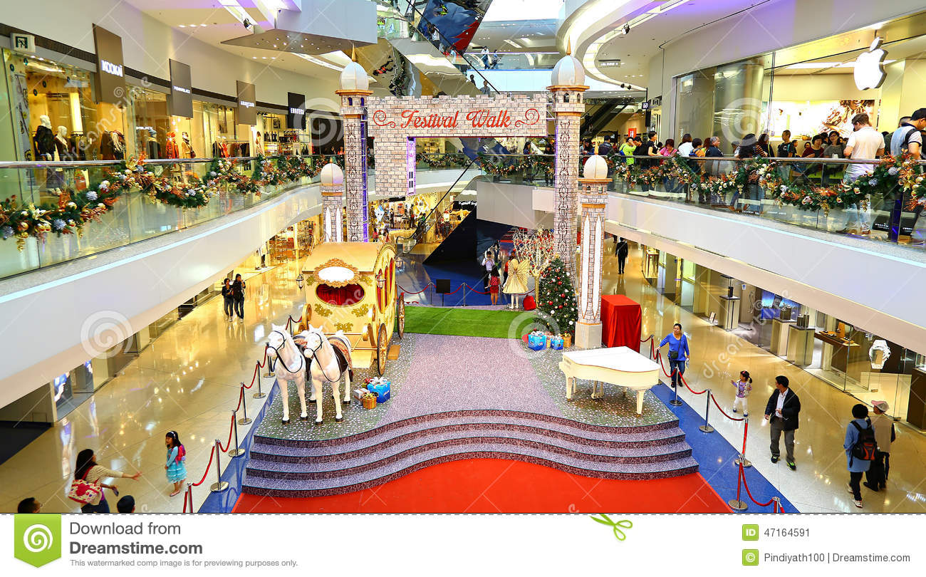 Christmas decoration at festival walk shopping mal for Festival decoration ideas