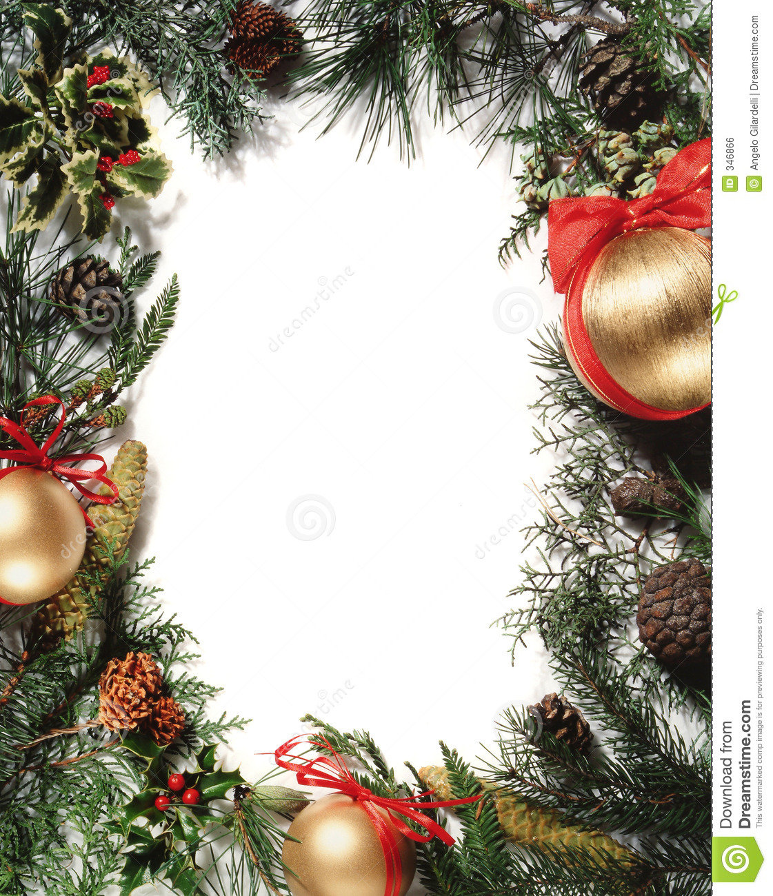 Christmas decoration frame stock photo image 346866 for Christmas decorations images