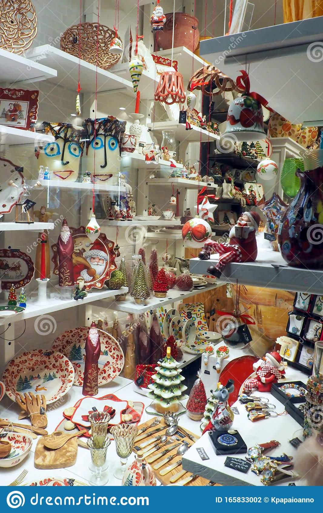 Christmas Decoration And Gift Shop In Rome Italy Editorial Photography Image Of Commercial Items 165833002