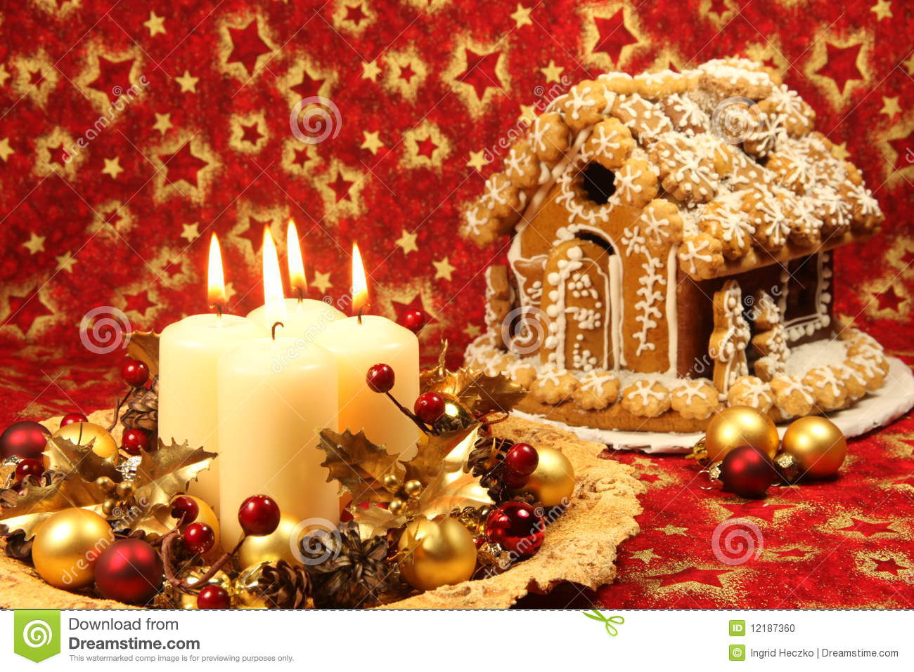 #BB8010 Christmas Decoration And Gingerbread House Stock Photo  5497 decorations de noel reine des neiges 1300x957 px @ aertt.com