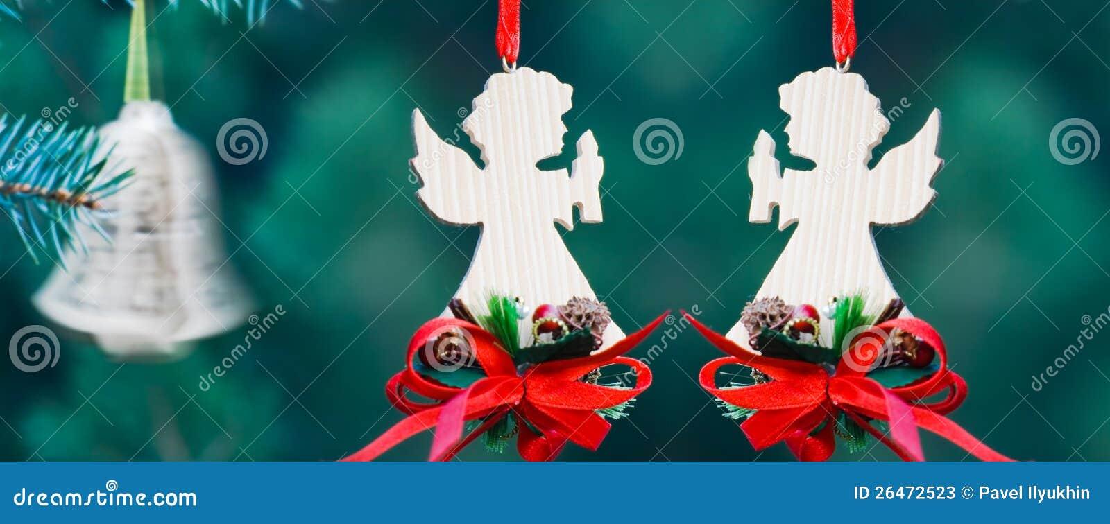 christmas decoration of handmade angels - Handmade Angels Christmas Decorations