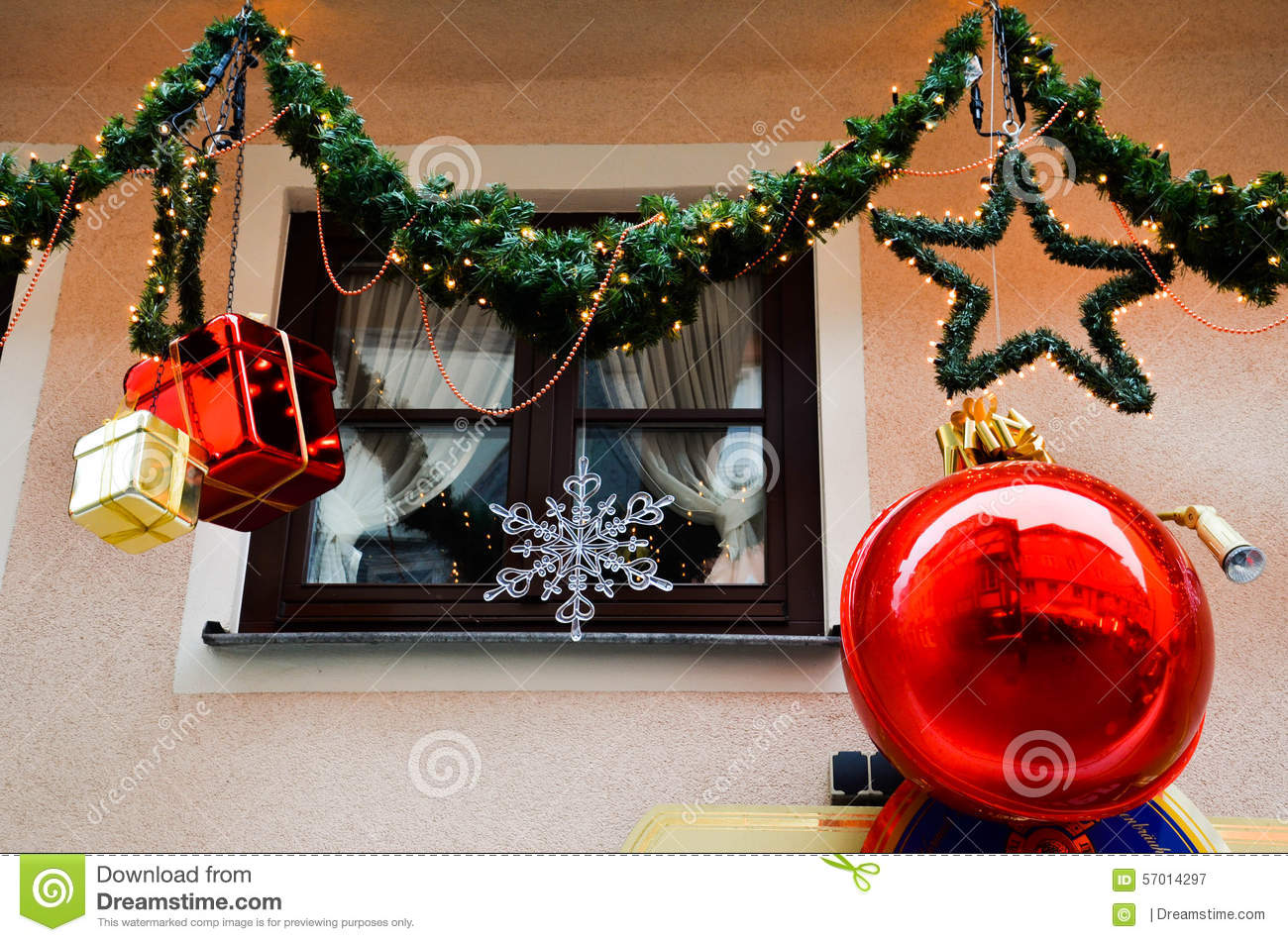 Decorations In Germany During Christmas : Christmas decoration stock photo image