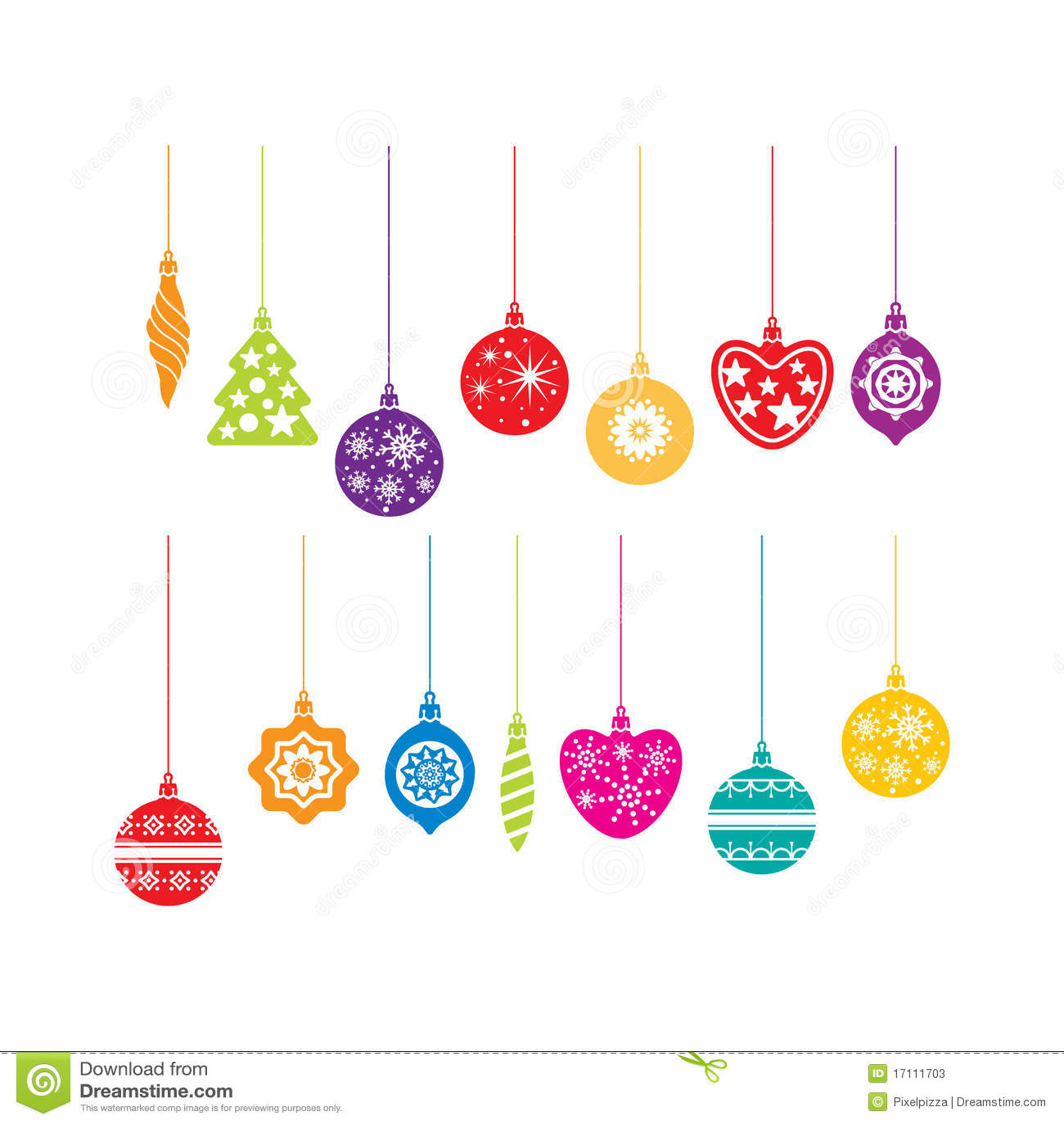 Christmas Decoration Icons Stock Photos - Image: 17111703