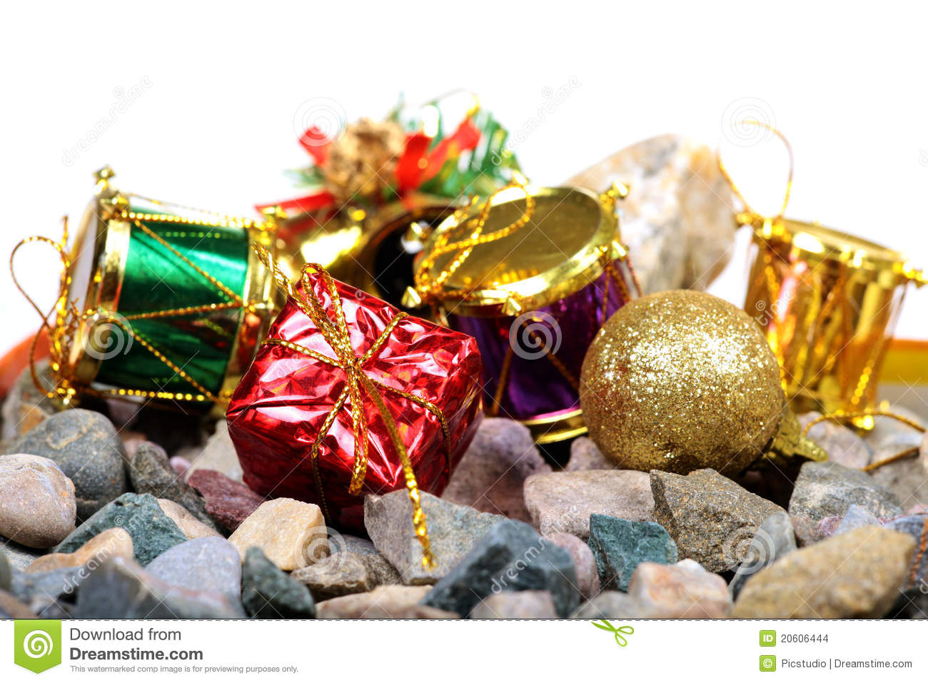 Christmas Decoration Items Stock Images