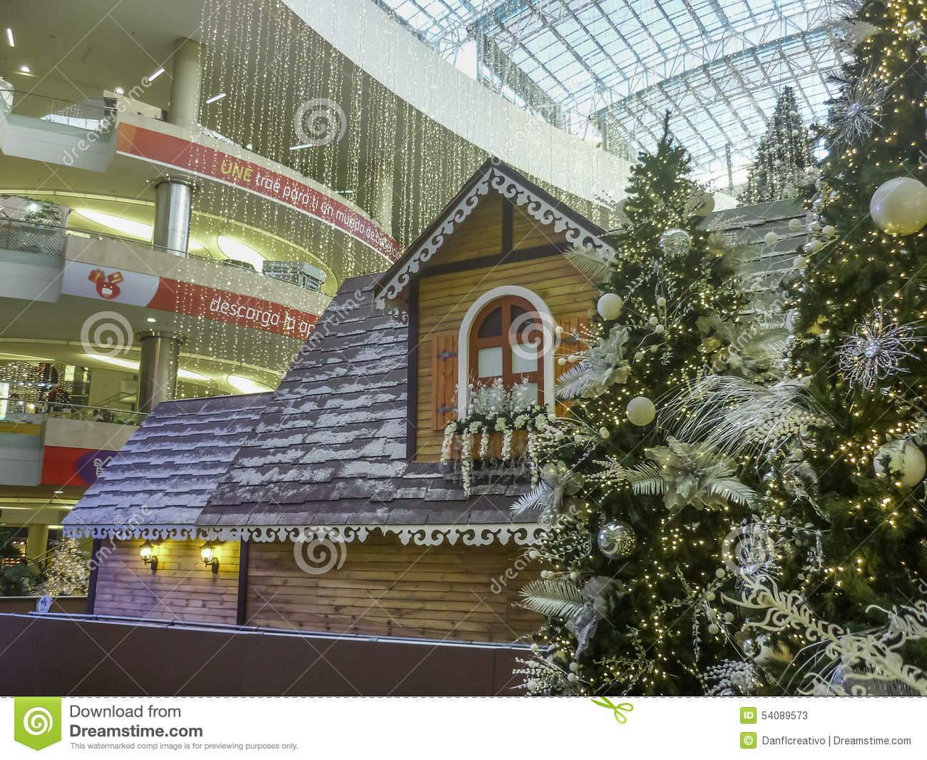 beautiful christams decoration at shooping mall in the city of medellin in colombia south america - Mall Of America Christmas Decorations