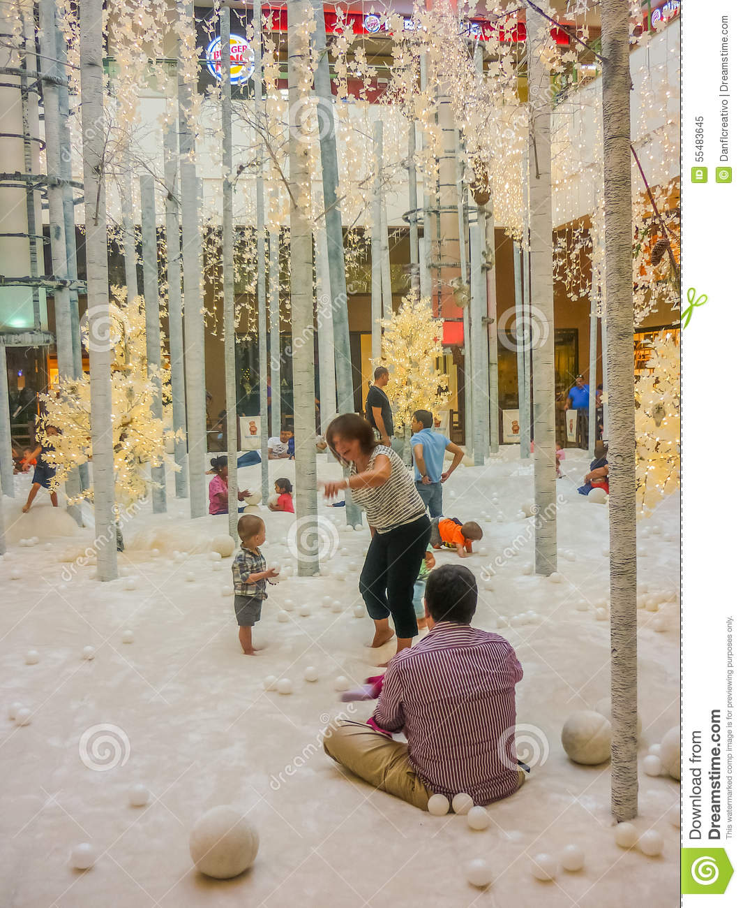 Christmas In Colombia South America.Christmas Decoration At Mall In Medellin Editorial Image