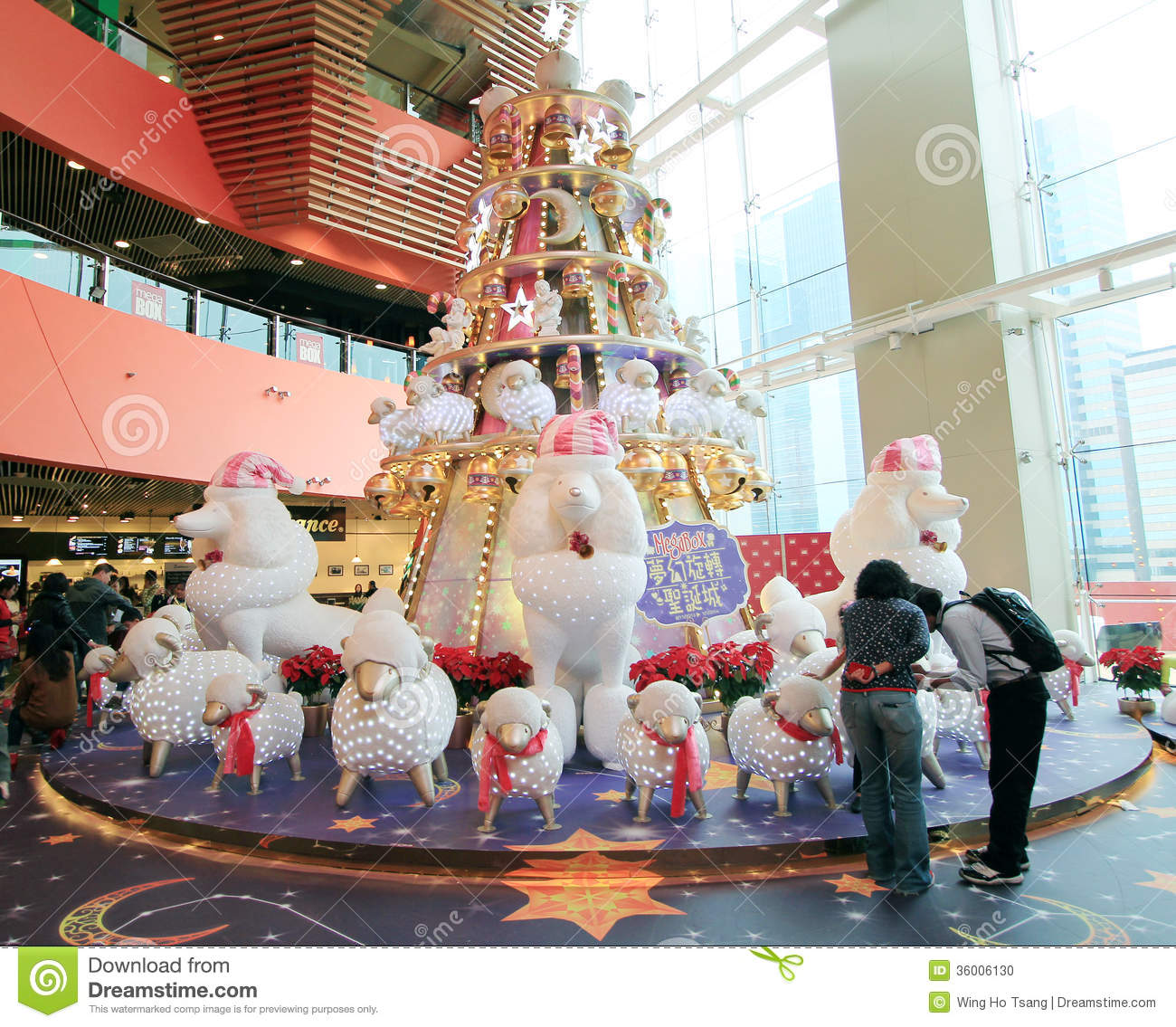 Christmas Decorations Store In Singapore: Christmas Decoration In Mega Box Shopping Mall Editorial