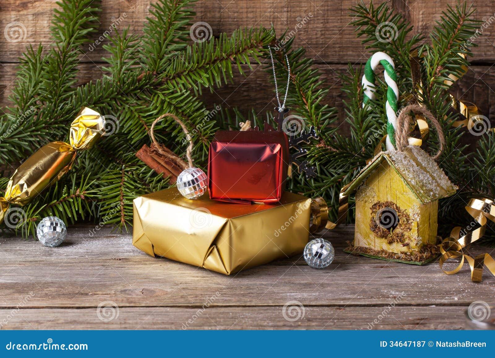 Christmas Decoration With Nesting Box Stock Image - Image of ...