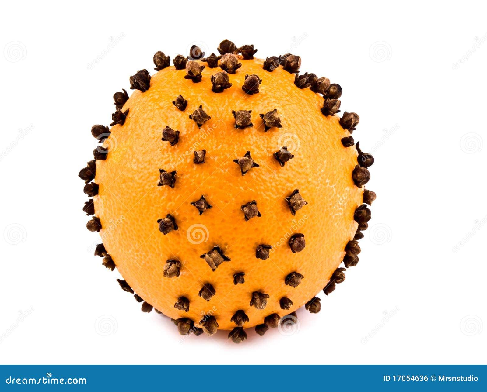 Orange With Cloves Stock Photo