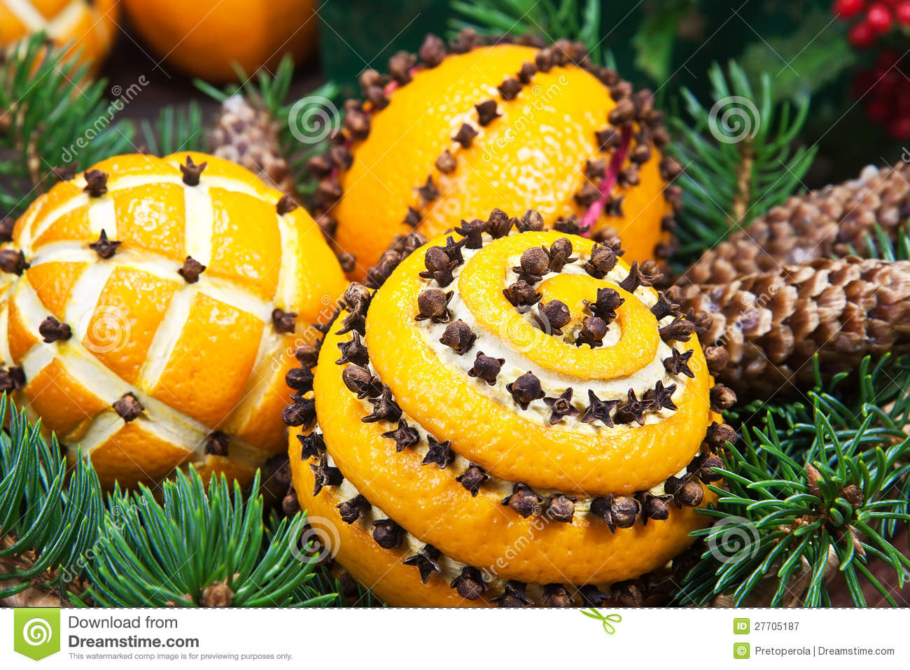 Christmas Decoration With Oranges Stock Image - Image of cinnamon ...