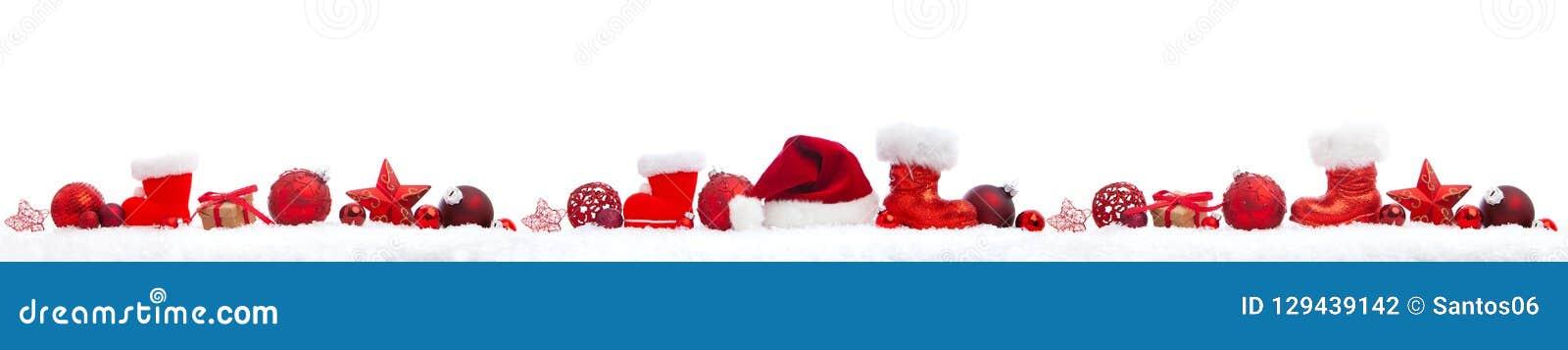 Christmas panorama on white