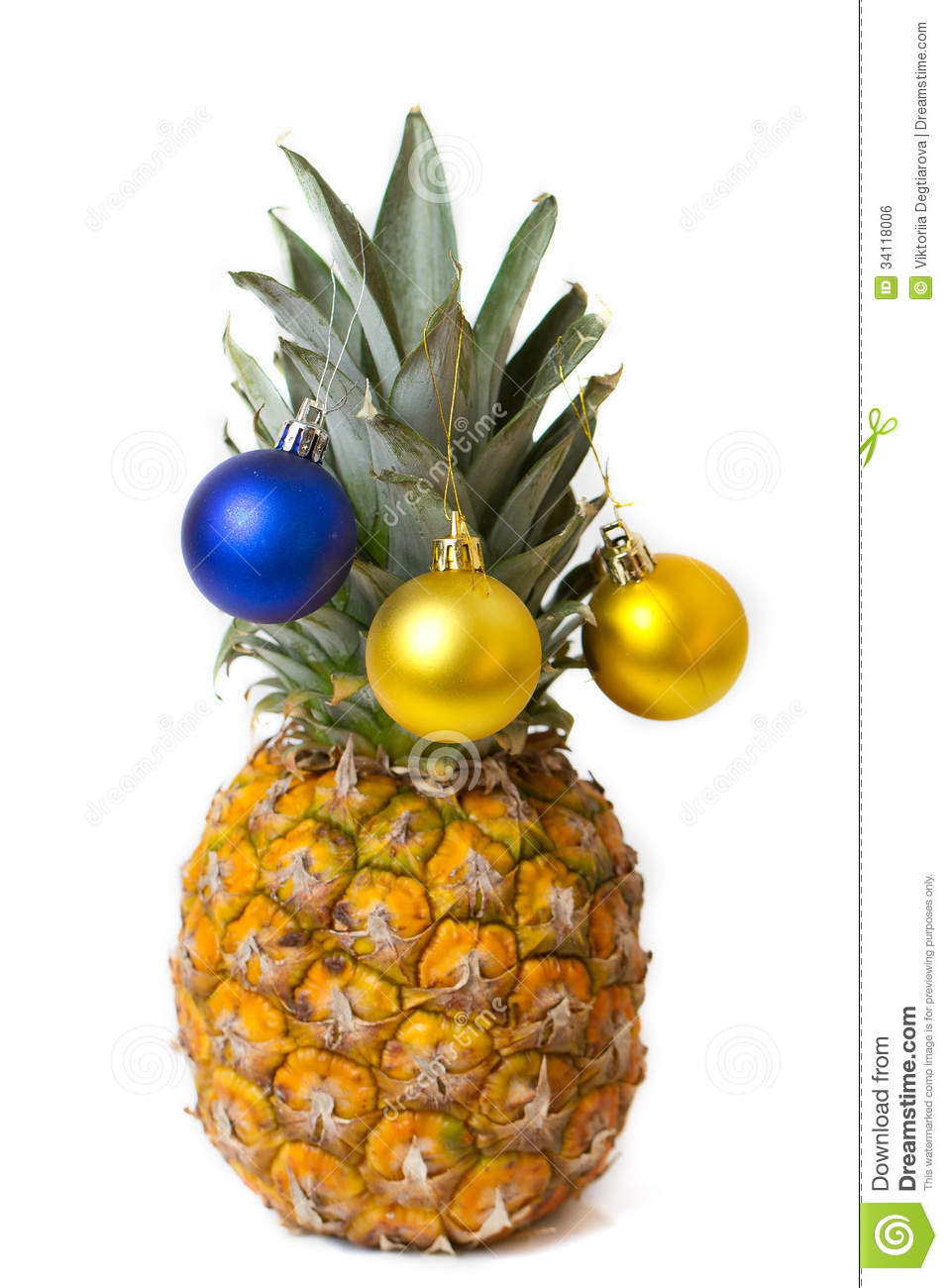 Christmas decoration on pineapple stock photo image Ananas dekoration