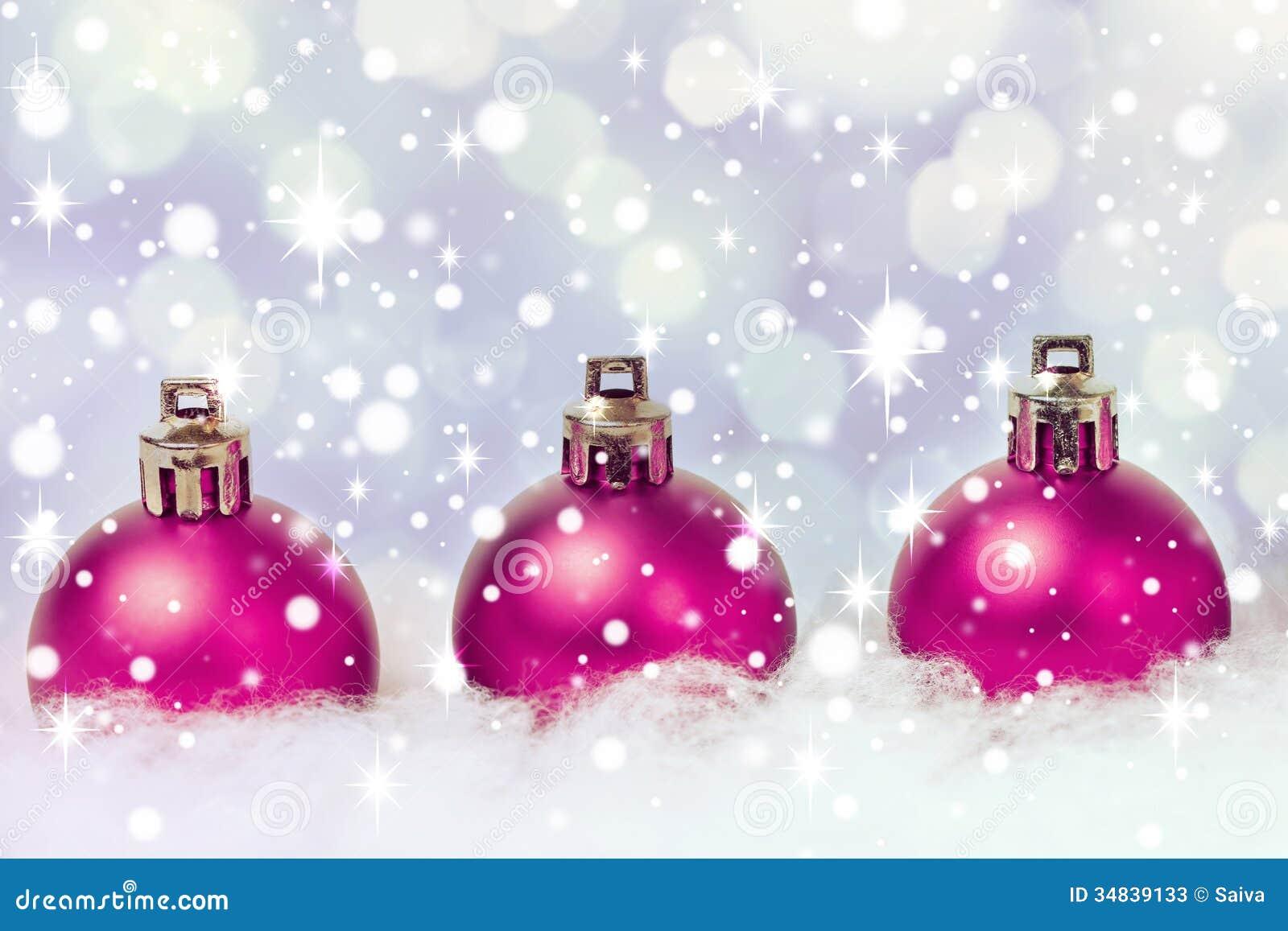 Purple Xmas Decorations