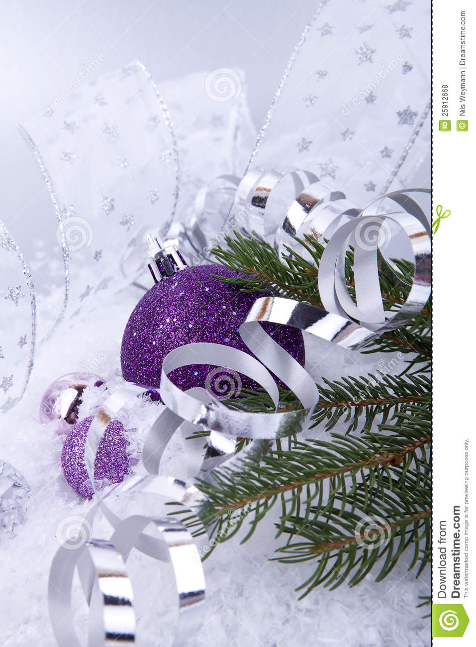 Purple and silver christmas decorations - Beautiful Christmas Decoration Purple Silver