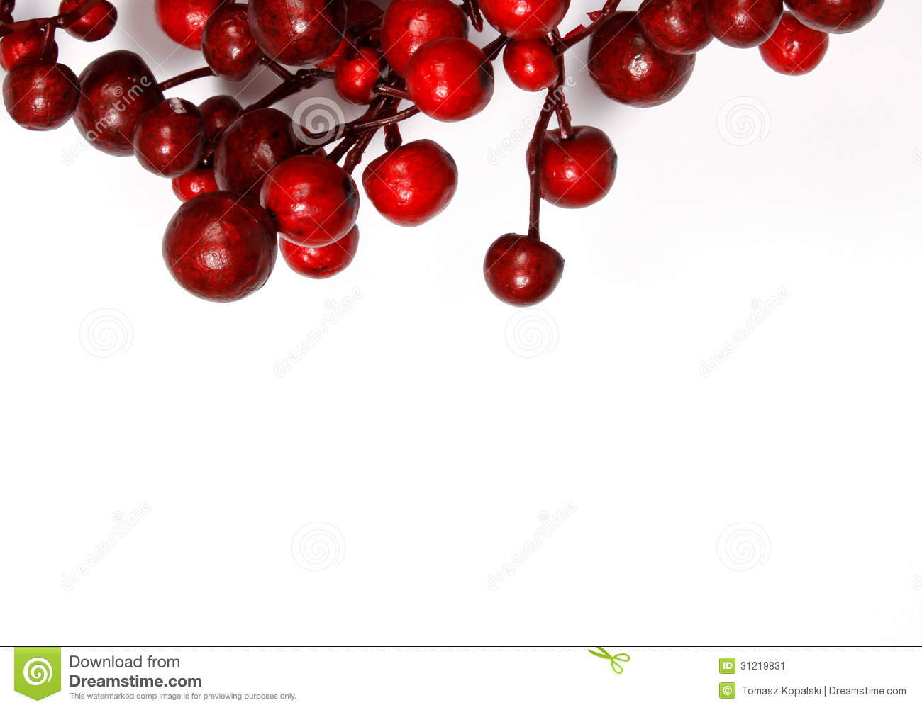 Christmas Tree Decoration Berries : Christmas decoration from red berries stock image