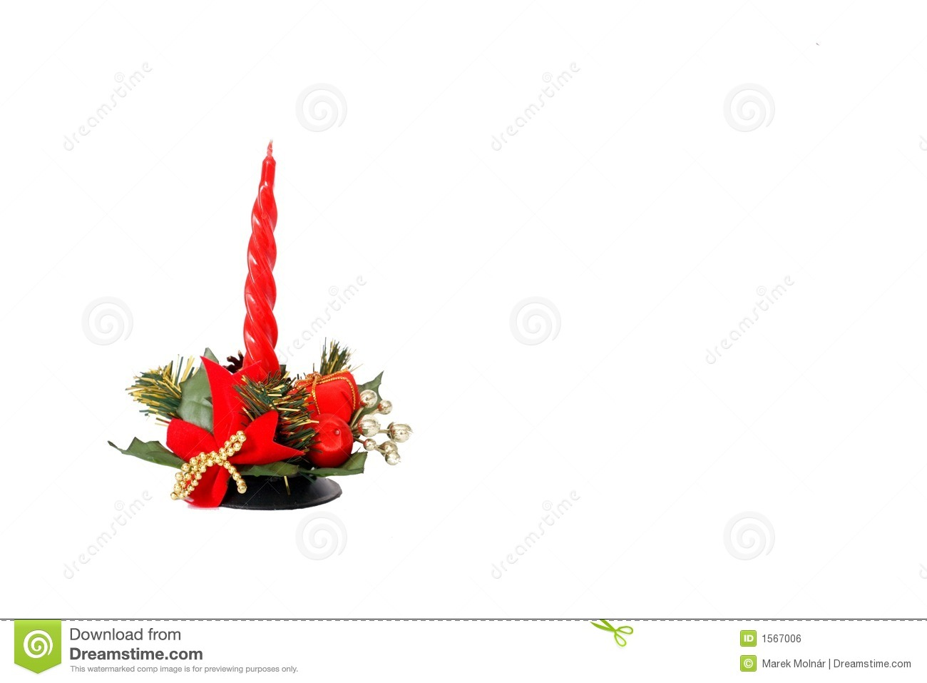 red candle white background - photo #6