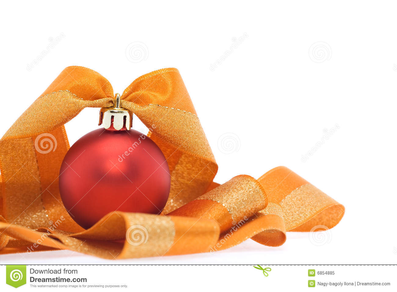 Christmas Decoration In Red And Orange Tones Royalty Free