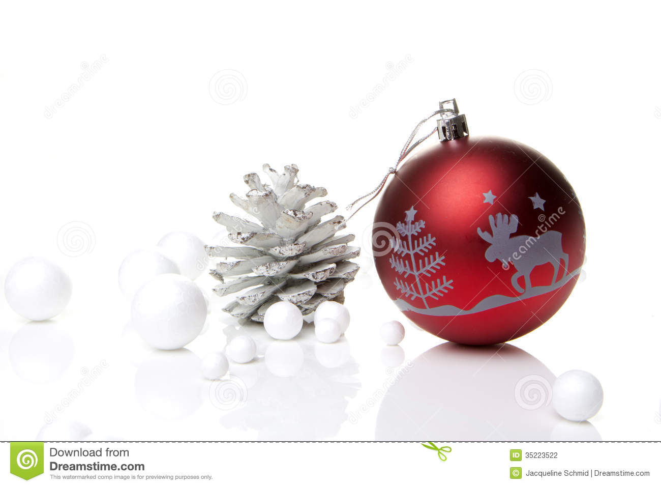 Christmas Decoration Red And Silver Stock Photography Image 35223522