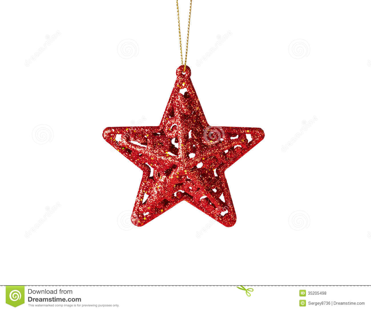 Christmas Decoration Red Star Stock Photo Image 35205498