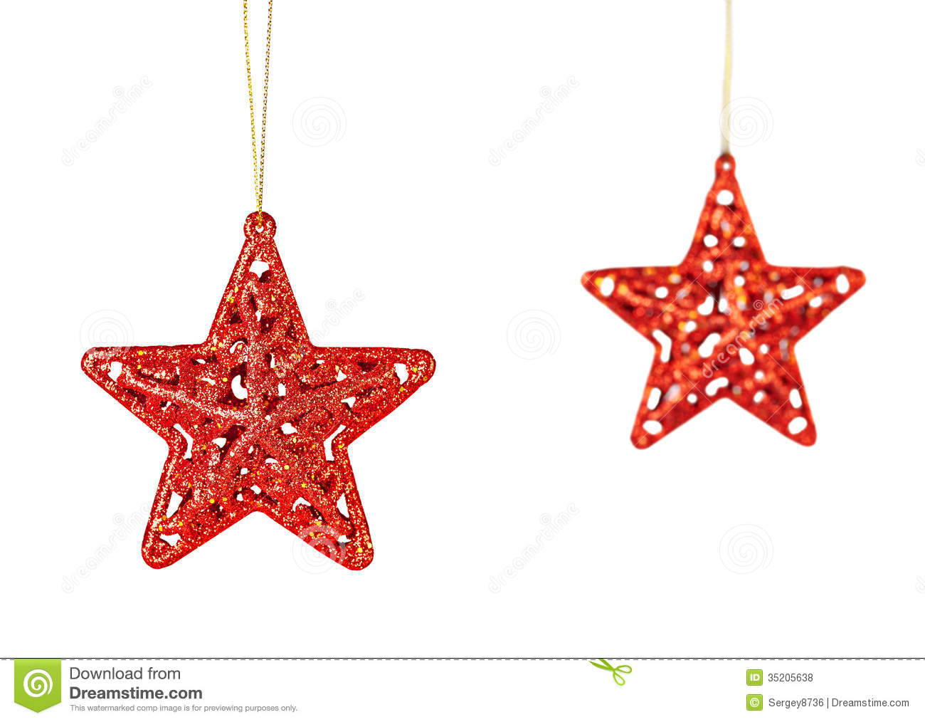 Christmas Decoration. Red Stars Isolated On White Background. Royalty Free  Stock Photos - Christmas