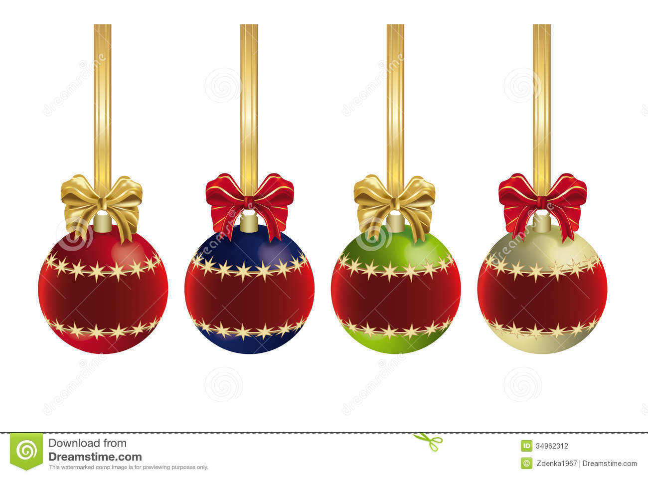Christmas Decoration Ideas With Ribbon : Christmas decoration with ribbon stock photography image