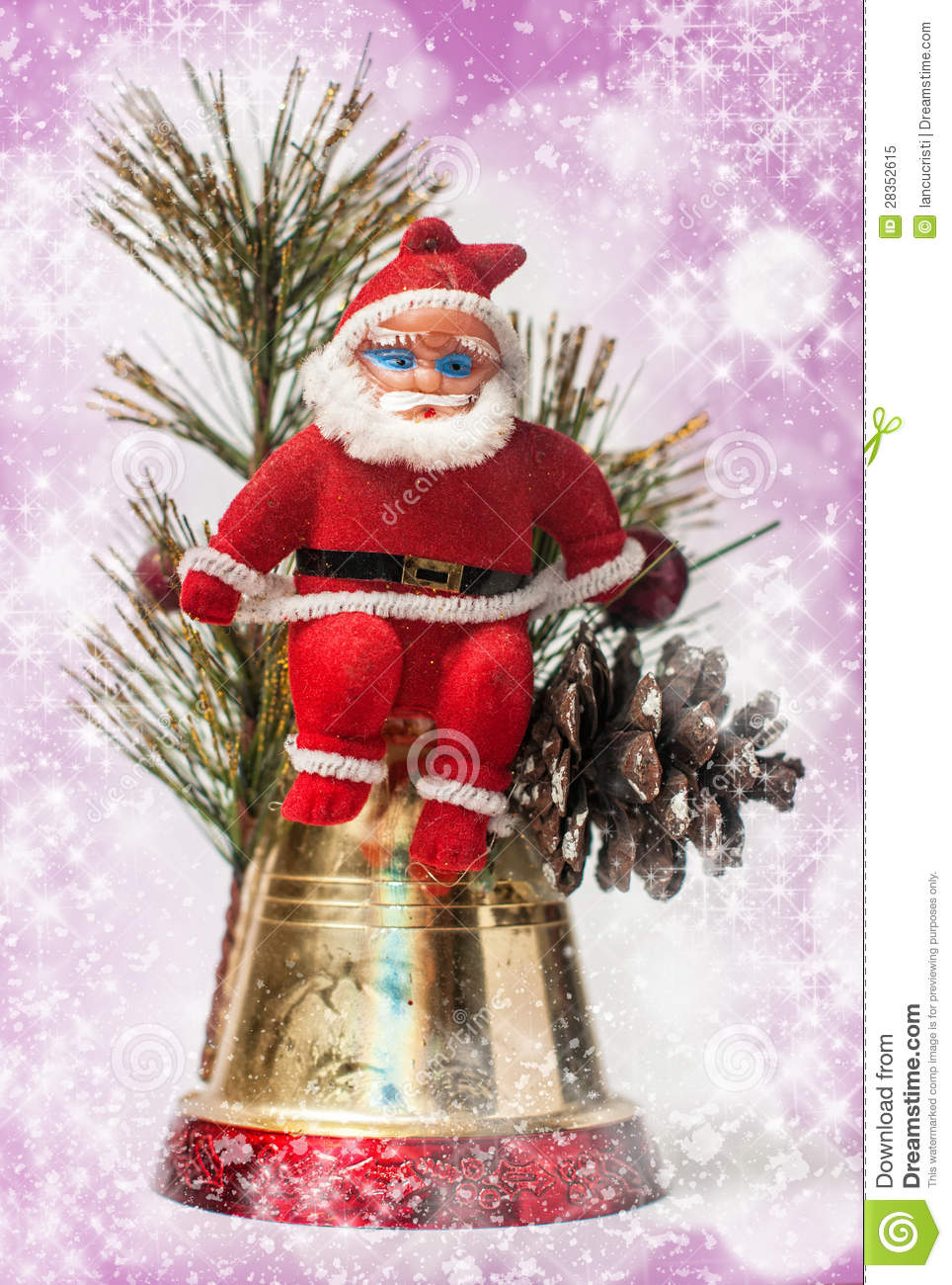 Christmas Decoration With Santa Claus Royalty Free Stock ...
